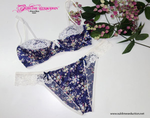 Jardin D'amour bra set bleu