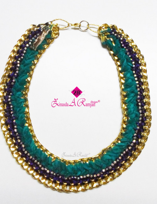 3-plaited turquoise gold new trend