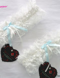 leavers Lace & Blue ribbon